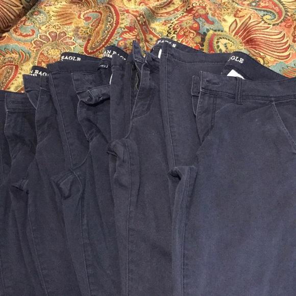 American Eagle Outfitters Pants - American Eagle Navy Kickboot Pants (5 pair)